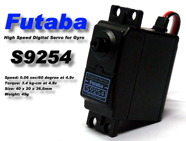 Futaba RC Model S9254 R/C Hobby Digital Servo for GY240 401 502 Gyro SF950