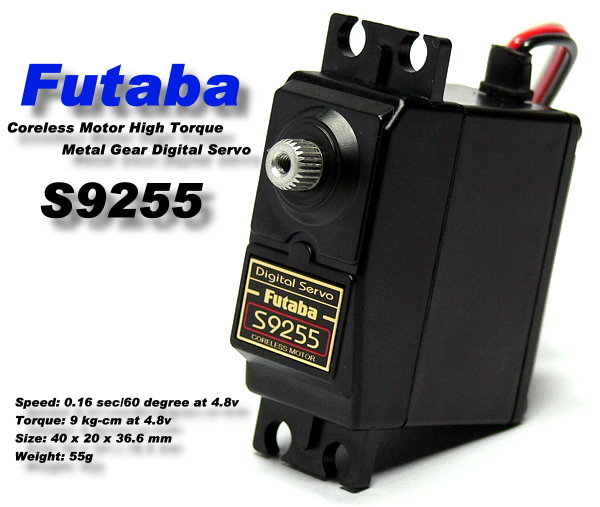 Futaba RC Model S9255 High Torque R/C Hobby Digital Coreless Servo SF955