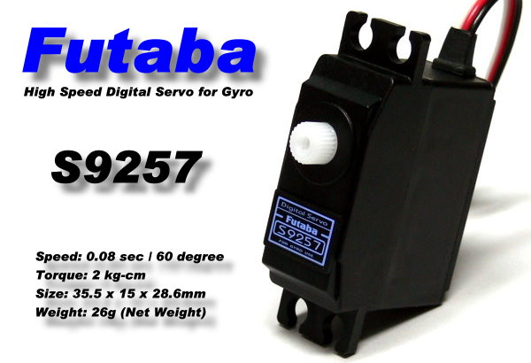 Futaba RC Model S9257 High Speed R/C Hobby Digital Servo for Gyro SF963