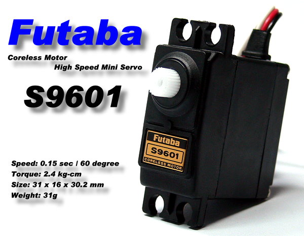 Futaba RC Model S9601 Coreless Motor High Speed R/C Hobby Mini Servo SF975