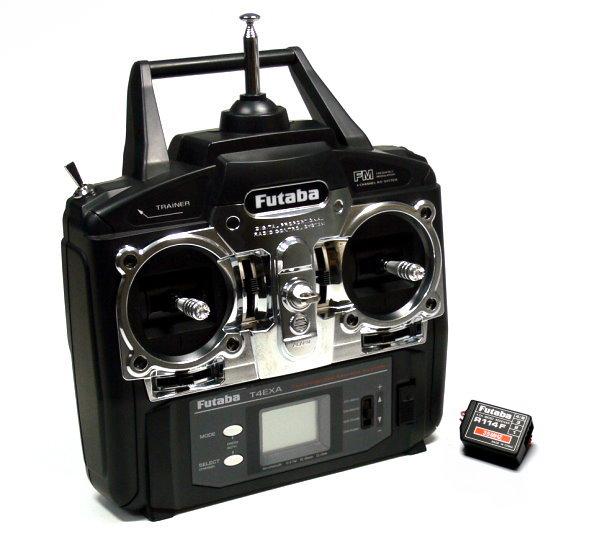 Futaba RC Model T4EXA 4ch 35MHz R/C Hobby Transmitter & R114F Receiver TS530