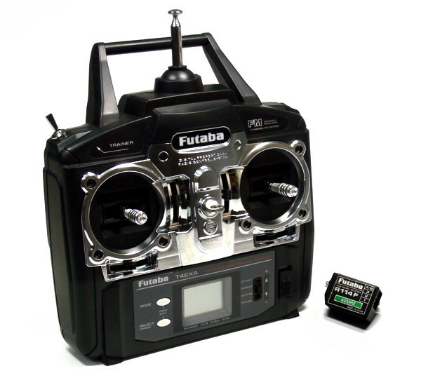 Futaba RC Model T4EXA 4ch 40MHz R/C Hobby Transmitter & R114F Receiver TS535