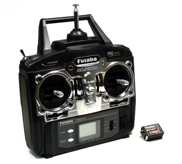 Futaba RC Model T4EXA 4ch 72MHz R/C Hobby Transmitter & R114F Receiver TS540
