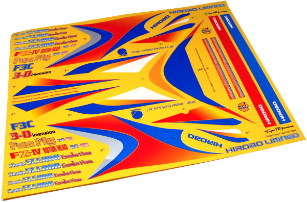 Hirobo RC Model Shuttle Sceadu 0412-229 Helicopter Decal DE670