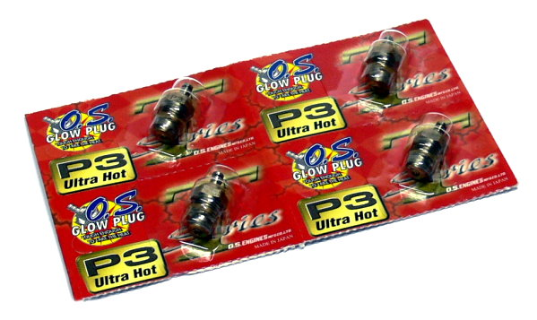 4x OS ENGINES RC Model O.S. Engine R/C Hobby Glow Plug P3 (Ultra Hot) CA085