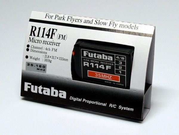 Futaba RC Model R114F FM 35MHz 4ch R/C Hobby Receiver with Crystal RE476