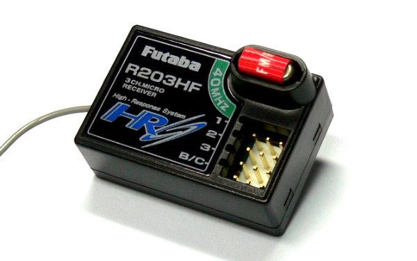 Futaba RC Model R203HF FM 40MHz 3ch R/C Hobby High Response Receiver RE684
