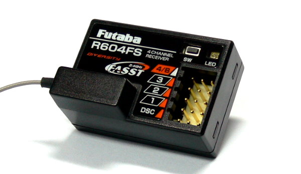 Futaba RC Model R604FS FASST 2.4GHz 4ch R/C Hobby Diversity Receiver RE746
