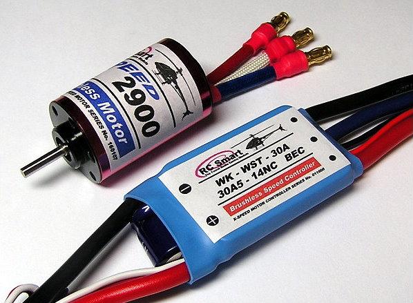 RC Model 2900 KV Inrunner Brushless Motor & R/C 30A ESC Speed Controller CA059