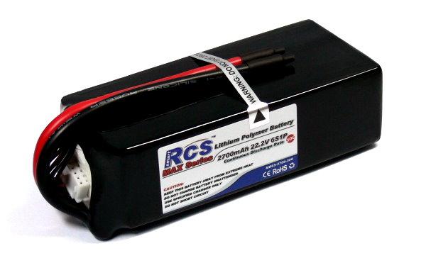 RCS Model 2700mAh 22.2V 30C LiPo Li-Polymer Lithium Polymer Battery RB612