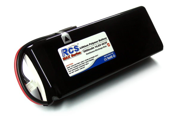 RCS Model 5000mAh 14.8V 12C LiPo Li-Polymer Lithium Polymer Battery RB535