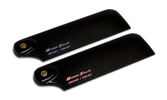 Rotor Tech RC Model Helicopter Carbon Fiber 76mm Tail Blades (1pair) HB660