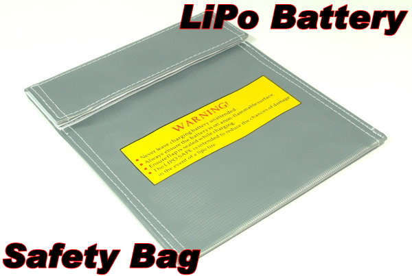 Fireproof LiPo Li-polymer Safety 220 x 180mm Silver RC Battery Safe Bag SB080