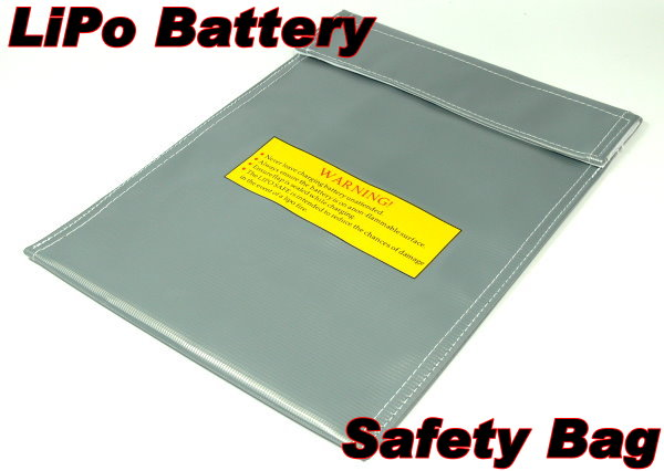 Fireproof LiPo Li-polymer Safety 300 x 220mm Silver RC Battery Safe Bag SB070