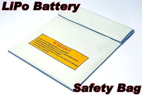Fireproof LiPo Li-polymer Safety 220 x 180mm White RC Battery Safe Bag SB085
