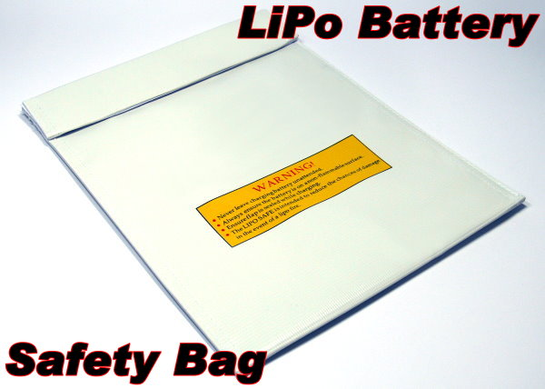 Fireproof LiPo Li-polymer Safety 300 x 220mm White RC Battery Safe Bag SB075