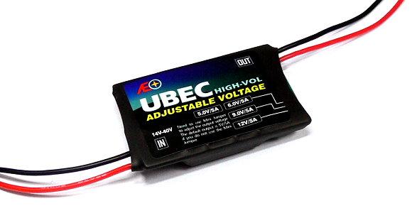 AEO RC Model High Vol Adjustable Voltage Input 14-40V 5V 6V 9V 12V/5A UBEC AC893