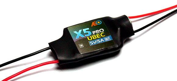 AEO RC Model X5 Pro Input 6-23V Output 5V/5A 12g R/C Hobby UBEC BEC AC921