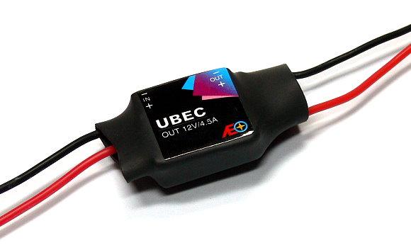 AEO RC Model Input 6-23V Output 12V/4.5A 8.9g R/C Hobby UBEC BEC AC908