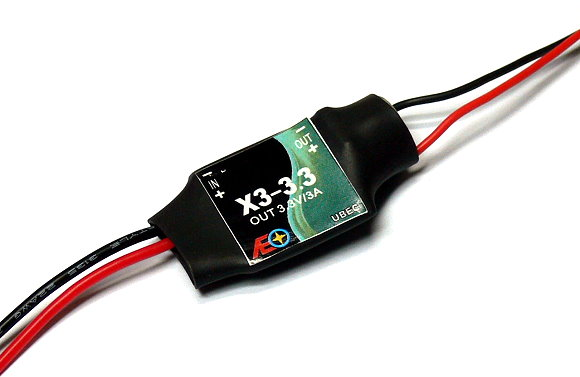 AEO RC Model Input 6-23V Output 3.3V/3A 8.9g R/C Hobby UBEC BEC AC922