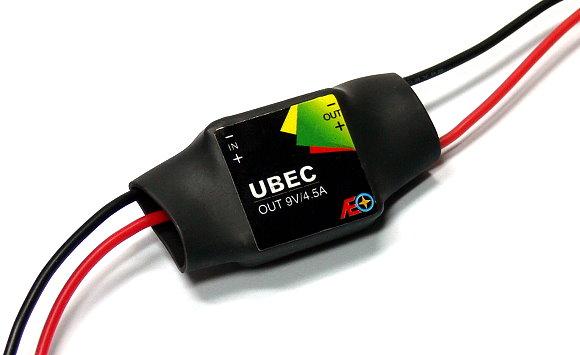 AEO RC Model Input 9-23V Output 9V/4.5A 8.9g R/C Hobby UBEC BEC AC912