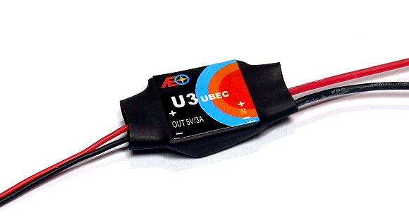 AEO RC Model U3 Input 6-23V Output 5V/3A 7.1g R/C Hobby UBEC BEC AC930
