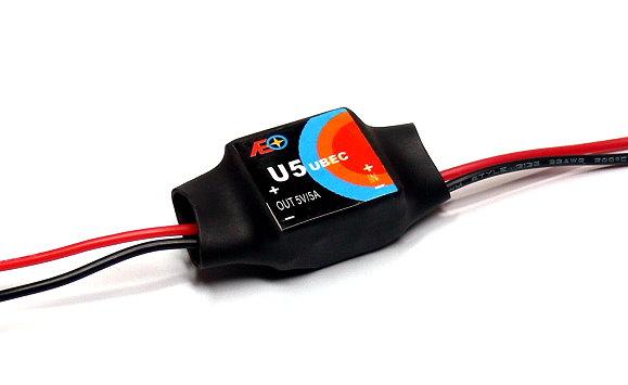 AEO RC Model U5 Input 6-23V Output 5V/5A 9g R/C Hobby UBEC BEC AC928