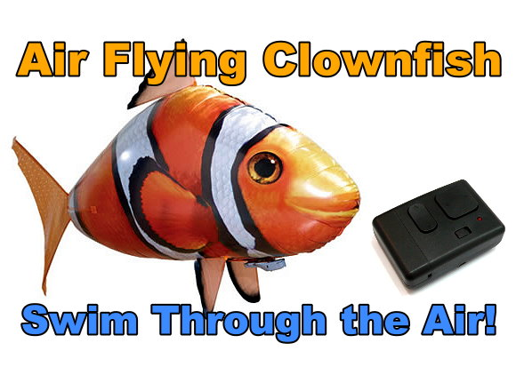 RC Air Clown Fish Remote Control Flying Fish Airship Toy (Complete Set) AS180