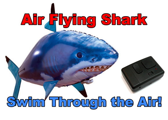 RC Air Shark Remote Control Flying Fish Airship Toy (Complete Set) AS200