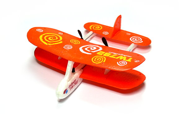 Biplane RC Model Aircarft 2ch Infrared Orange Mini R/C Hobby Airplane RTF EA534