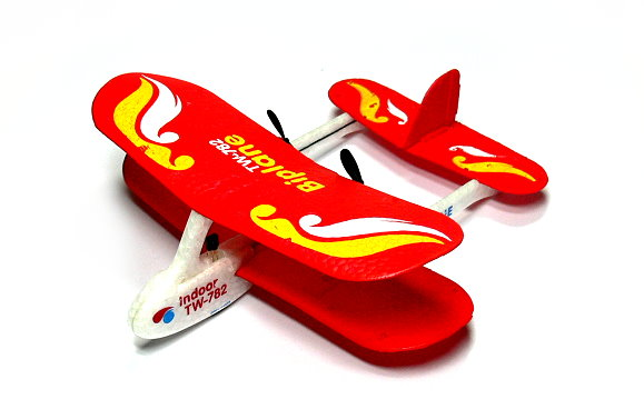 Biplane RC Model Aircarft 2ch Infrared Red Mini R/C Hobby Airplane RTF EA538