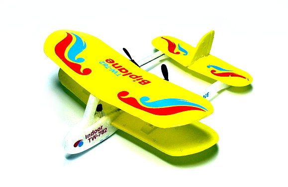 Biplane RC Model Aircarft 2ch Infrared Yellow Mini R/C Hobby Airplane RTF EA532