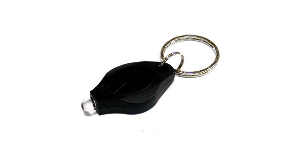 Outdoor Black Keychain White LED Flashlight FL568