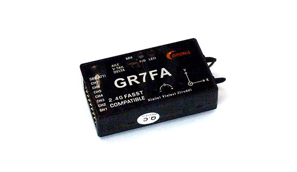 Corona RC Model GR7FA FASST Compatible 2.4GHz R/C Hobby Receiver RV113