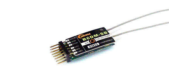 Corona RC Model R6DM-SB JR DMSS Compatible 2.4GHz R/C Hobby Receiver RV108