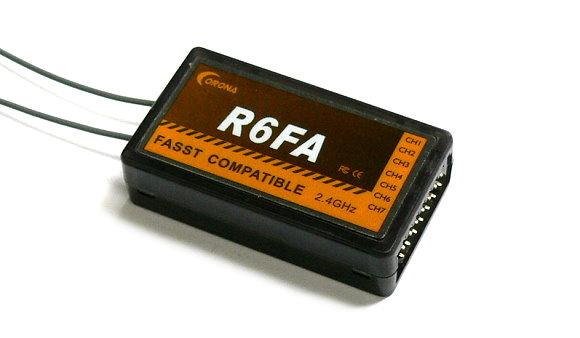 Corona RC Model R6FA FASST Compatible 2.4GHz R/C Hobby Receiver RV110