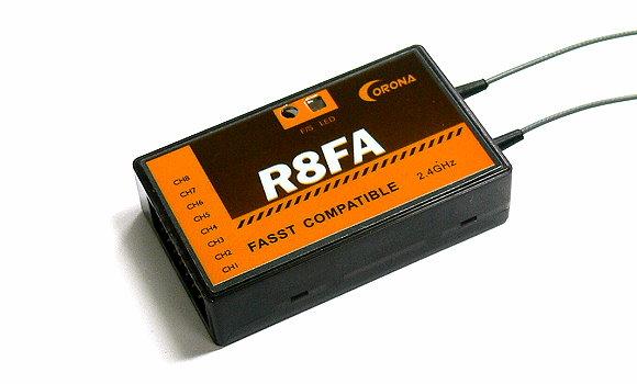 Corona RC Model R8FA FASST Compatible 2.4GHz R/C Hobby Receiver RV115