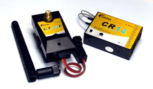 Corona RC Model CT14F 2.4GHz R/C Hobby RF Module & CR14 RC Receiver RS834
