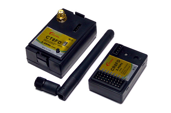 Corona RC Model CT8FD 2.4GHz R/C Hobby FHSS RF Module & CR8FD Receiver RS818