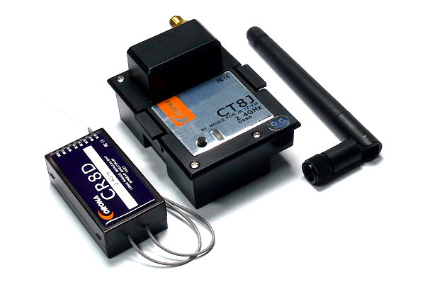 Corona RC Model CT8J 2.4GHz R/C Hobby RF Module & CR8D Receiver RS820