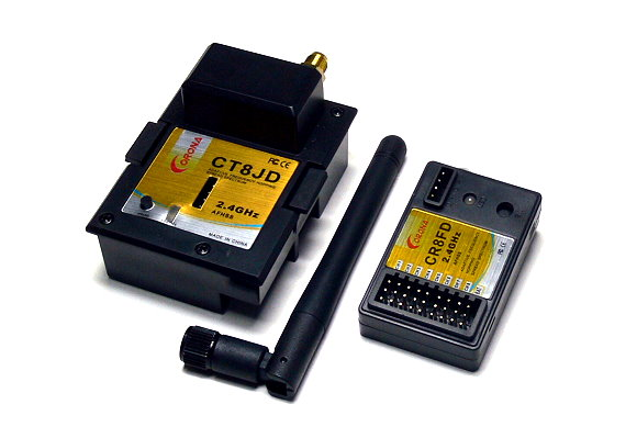 Corona RC Model CT8JD 2.4GHz R/C Hobby FHSS RF Module & CR8FD Receiver RS816