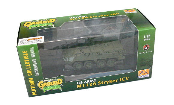 EASY MODEL Military Model 1/72 US Army M1126 Stryker ICV Finished 35050 E5050