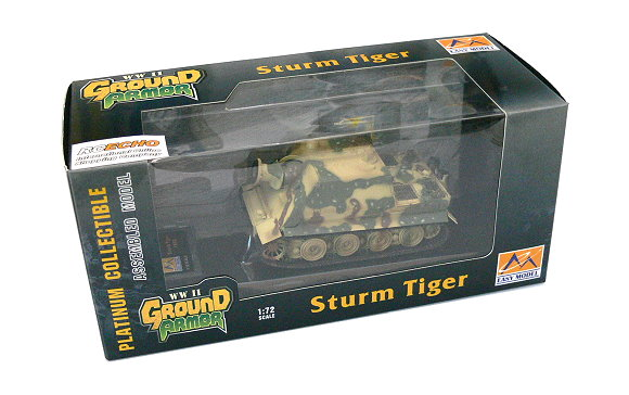 EASY MODEL Military Model 1/72 Sturm Tiger 1002 (Finished) 36104 E6104