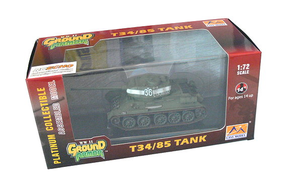 EASY MODEL Military Model 1/72 T34/85 Tank Russian Army (Finished) 36270 E6270
