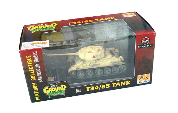 EASY MODEL Military Model 1/72 T34/85 Tank Egyptian Army (Finished) 36272 E6272