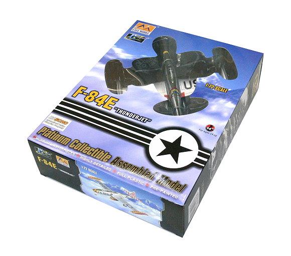 EASY MODEL Aircraft Model 1/72 F84E Thunderjet 51-490 523 FES Lt Col 37105 E7105