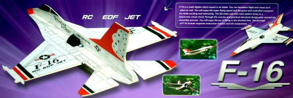 Techone Aircraft R/C Hobby F16 EDF Model 4ch Electric Jet Airplane EA540