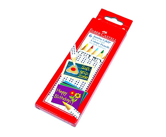 Faber Castell Jumbo Grip Cardboard Box - 6 Grip Pencil 110806 PB550
