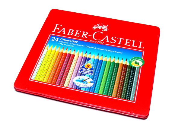 Faber Castell Grip 2001 Set Colour Grip Pencil Tin 24 112423 PB572