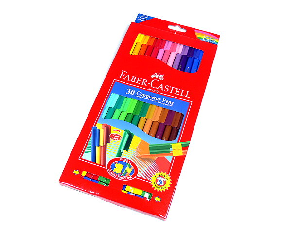 Faber Castell Colour Markers Connector Pens Wallet 30 11300A PB493